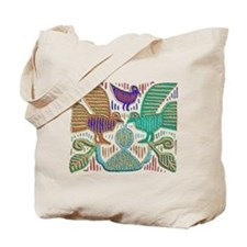 THREE BIRDS MOLA DESIGN Tote Bag