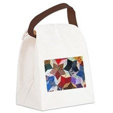 Tumbling Blocks Patchwork Quilt Canvas Lunch Bag