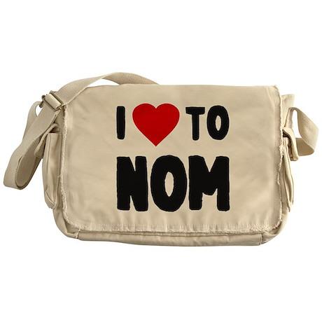 I Love to Nom Messenger Bag