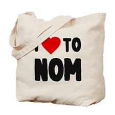 I Love to Nom Tote Bag