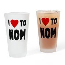 I Love to Nom Drinking Glass