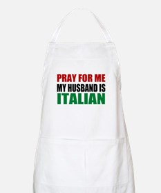 Pray Husband Italian Apron