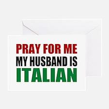 Pray Husband Italian Greeting Card
