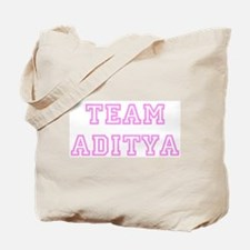 Pink team Aditya Tote Bag