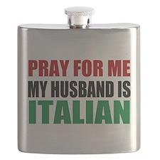 Pray Husband Italian Flask