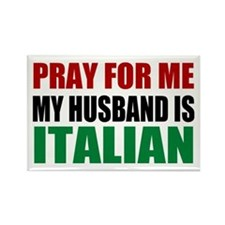 Pray Husband Italian Rectangle Magnet