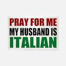 Pray Husband Italian Rectangle Magnet