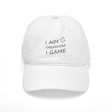 I aim, therefore, I game! Baseball Cap