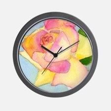Simply A Rose Wall Clock