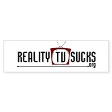 Reality TV Sucks Bumper Bumper Sticker