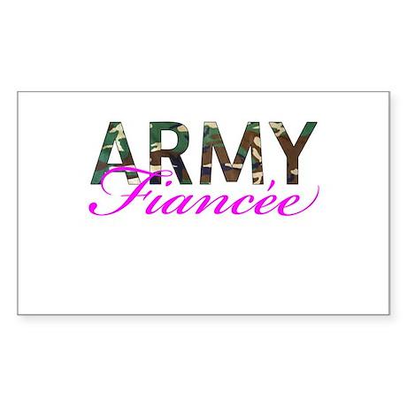 BDU Army Fiancee Sticker (Rectangle)