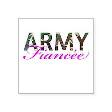 """BDU Army Fiancee Square Sticker 3"""" x 3"""""""