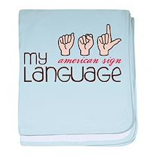 My Language baby blanket