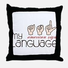 My Language Throw Pillow