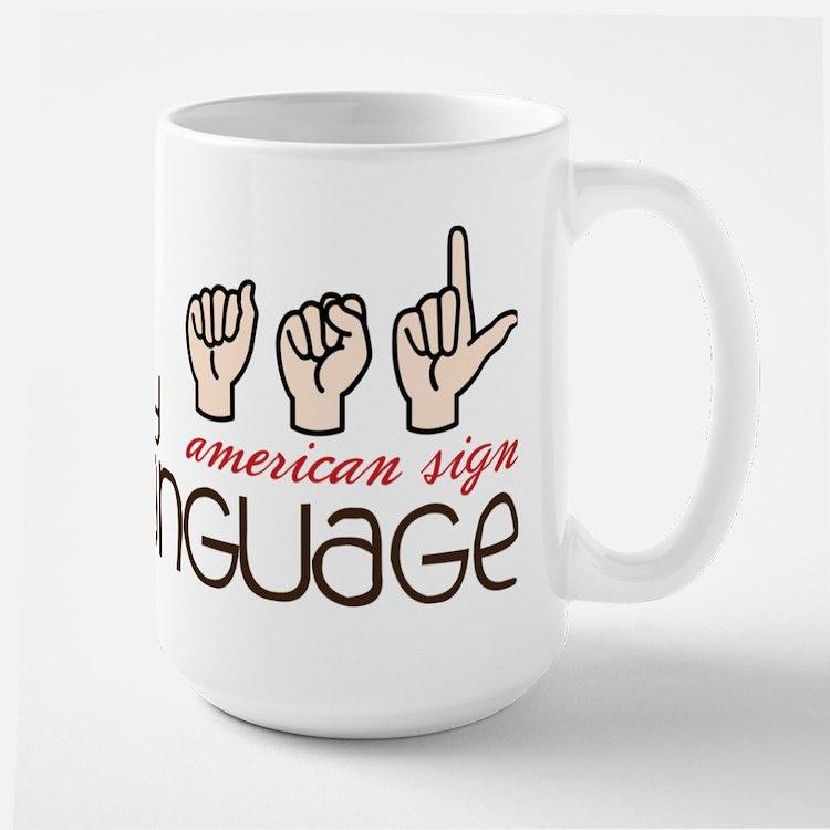 My Language Large Mug