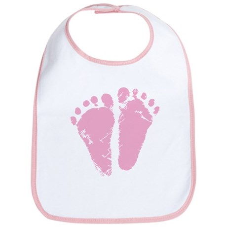 Pink Feet Bib