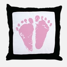 Pink Feet Throw Pillow