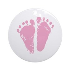 Pink Feet Ornament (Round)
