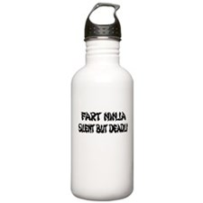 fart ninja silent but deadly.png Water Bottle