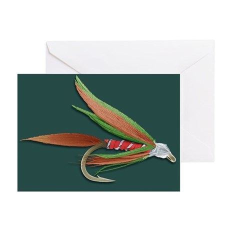 Barbed fishing fly, SEM - Greeting Cards (Pk of 10