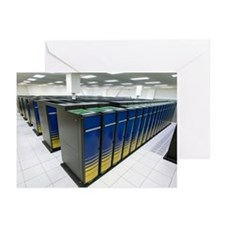 Cray XT4 supercomputer cluster - Greeting Cards (P