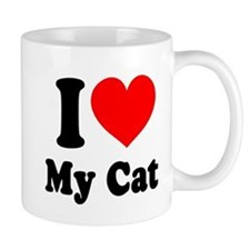 I Love My Cat: Mug