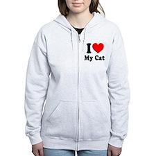 I Love My Cat: Zip Hoodie
