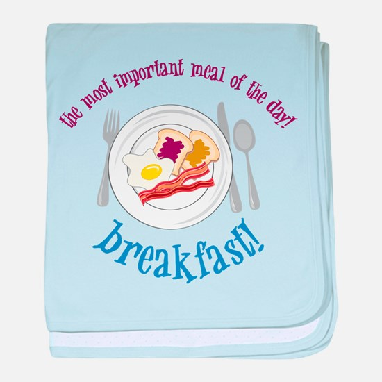 Important Meal baby blanket