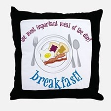 Important Meal Throw Pillow