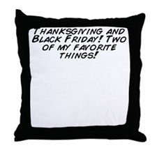 Cool My favorite things Throw Pillow