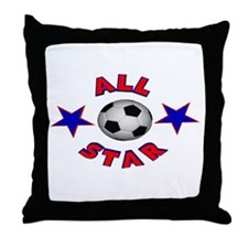 Soccer All Star Throw Pillow