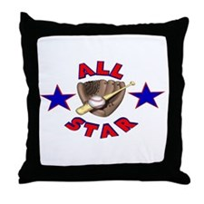 Baseball All Star Throw Pillow
