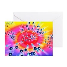 Ecstasy drug molecule - Greeting Cards (Pk of 10)