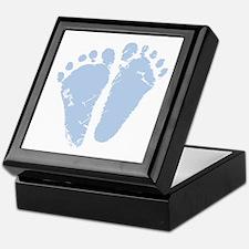 Blue Feet Keepsake Box