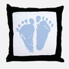 Blue Feet Throw Pillow