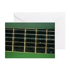 Guitar string vibrating - Greeting Cards (Pk of 10
