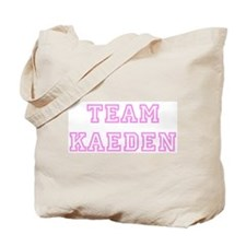 Pink team Kaeden Tote Bag