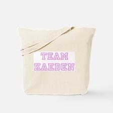 Pink team Kaeden Tote Bag