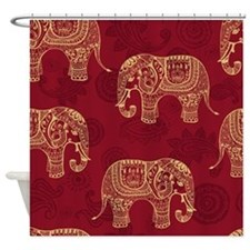 Beautiful Elephant Pattern Shower Curtain