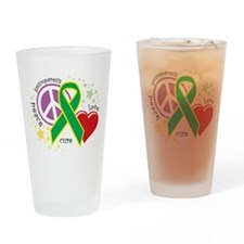 Funny Peace, love hope Drinking Glass