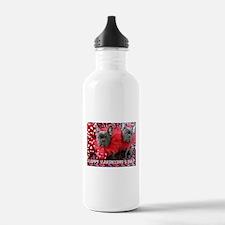 Valentine's Day card Water Bottle