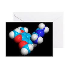 Trimethoprim molecule - Greeting Cards (Pk of 10)
