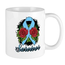 Thyroid Disease Survivor Rose Tattoo Mug