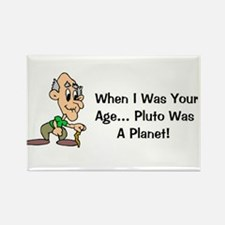 Cute Pluto planet Rectangle Magnet