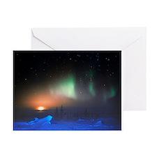 Aurora Borealis display over Manitoba, Canada - Gr