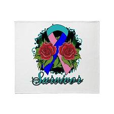 Thyroid Cancer Survivor Rose Tattoo Stadium Blank