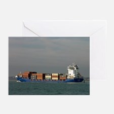 Container Vessel in Southampton Water - Greeting C