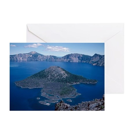 Crater Lake volcano - Greeting Cards (Pk of 10)
