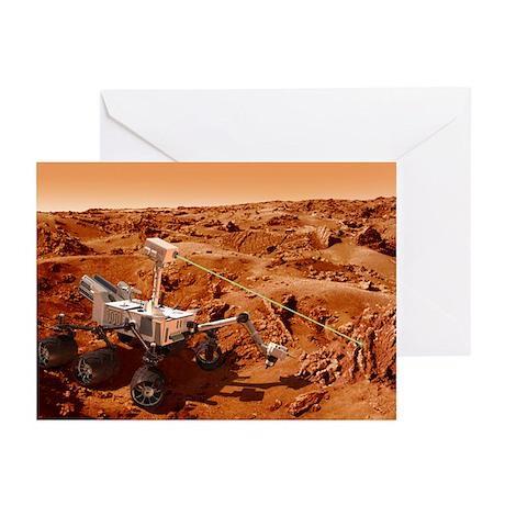 Curiosity rover on Mars, artwork - Greeting Cards