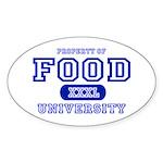 Food University Property Oval Sticker